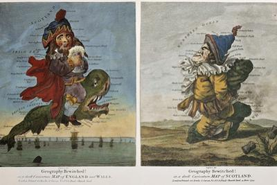 Old Caricature Maps Of England-Wales And Scotland by marzolino