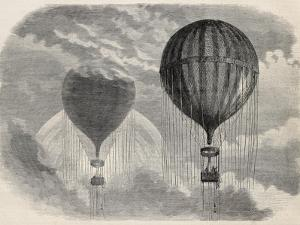 Old Illustration Of A Strange Optical Phenomena During Aerostat Ascension In Paris, 15 April 1868 by marzolino