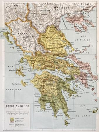 Old Map Of Ancient Greece by marzolino
