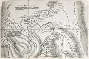 Old Map Of Campa Indians (Ashaninka) Territory, Peru by marzolino