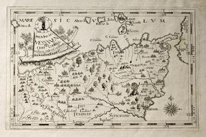 Old Map Of Capuchins Province Of Messina, Sicily. The Map May Be Dated To The 17Th C by marzolino