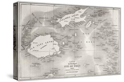 Old Map Of Fiji Islands by marzolino