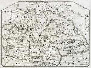 Old Map Of Hungary. By Unidentified Author, Published On Magasin Pittoresque, Paris, 1850 by marzolino