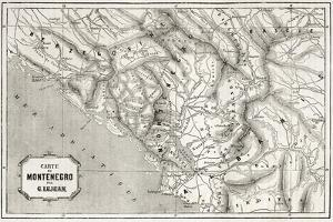 Old Map Of Montenegro. Created By Lejean, Published On Le Tour Du Monde, Paris, 1860 by marzolino