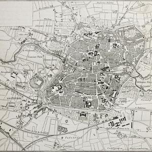 Old Map Of Nuremberg, Germany by marzolino