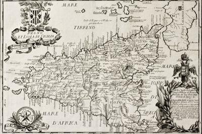 Old Map Of Sicily by marzolino