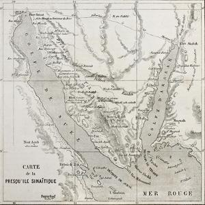 Old Map Of Sinai Peninsula. Created By Erhard, Published On Le Tour Du Monde, Paris, 1864 by marzolino
