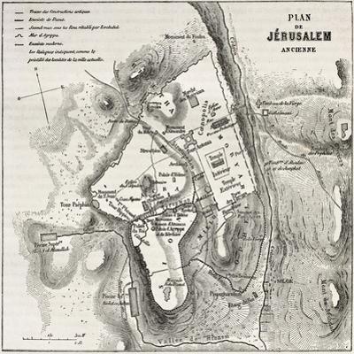 Old Plan Of Jerusalem by marzolino