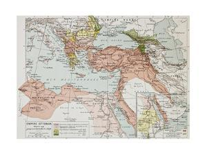 Ottoman Empire Historical Development Old Map (Between 1792 And 1878) by marzolino