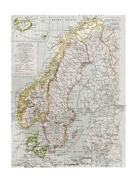 Scandinavia Political Map With Iceland Insert Map by marzolino