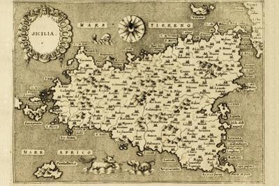 Sicily Old Map by marzolino