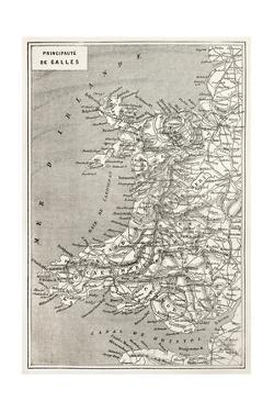 Wales Old Map. Created By Erhard And Duguay-Trouin, Published On Le Tour Du Monde, Paris, 1867 by marzolino