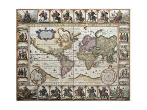 World Old Map. Created By Nicholas Visscher, Published In Amsterdam, 1652 by marzolino