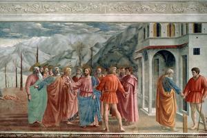 The Tribute Money, 1425 by Masaccio Tommaso