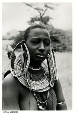 Masai Woman with Ear Hoops