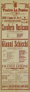 Mascagni & Puccine: Two Operas