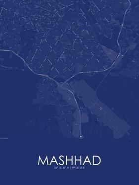 Mashhad, Iran, Islamic Republic of Blue Map