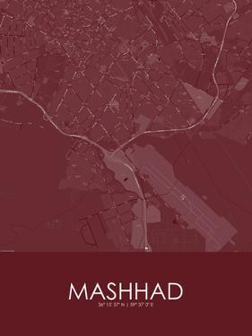 Mashhad, Iran, Islamic Republic of Red Map