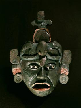 Mask in Jade and Shell Mosaic, Mayan Early Classical period 300-600 AD, Tikal, Guatemala