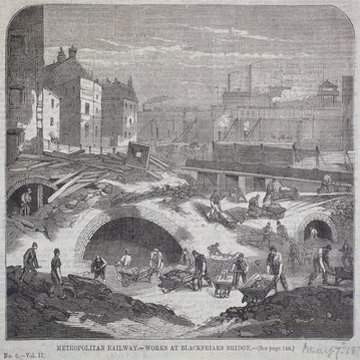 Blackfriars Bridge, London, 1863