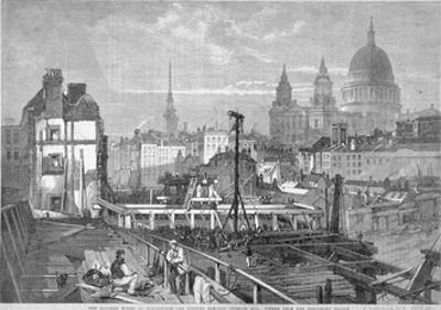 Blackfriars Bridge, London, 1864