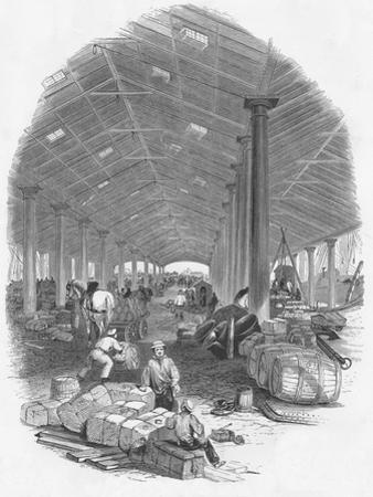Wharf Shed of the Trafalgar Dock, Liverpool, England, 1847