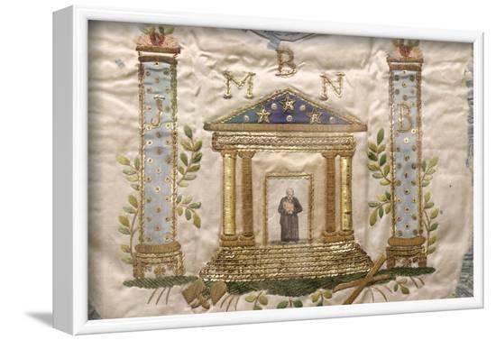 Masonic apron, Grande Loge de France, France-Godong-Framed Photographic Print