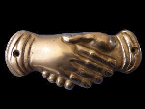 Masonic Handshake. Symbol, End of 19th C