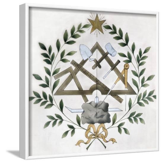 Masonic Tools--Framed Art Print
