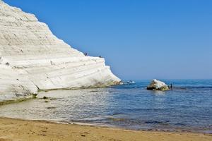 Beach near Scala Dei Turchi, Sicily, Italy by Massimo Borchi