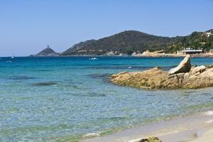 Beach near Town, Ajaccio, Corsica, France by Massimo Borchi