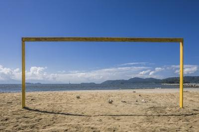 Football Goal in Praia (Beach) Do Pontal by Massimo Borchi