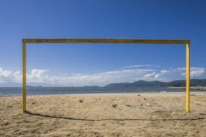 Football Goal in Praia (Beach) Do Pontal by Massimo Borchi