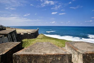 Fortress and Sea, Old San Juan, Puerto Rico by Massimo Borchi