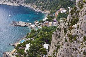 Marina Piccola and Coast from Giardini Di Augusto, Capri, Capri Island, Campania, Italy by Massimo Borchi