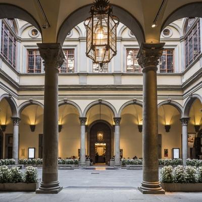 Palazzo (Palace) Strozzi, the Courtyard by Massimo Borchi