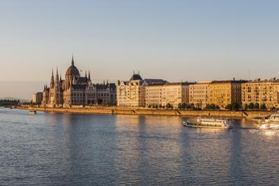 Pest, the River Danube and the Hungarian Parliament Building