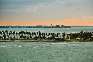 Sra and Old San Juan in Distance, Puerto Rico by Massimo Borchi