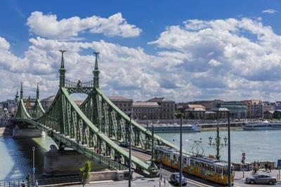 Szabadsag Hid (Liberty Bridge or Freedom Bridge), River Danube and the Town of Pest