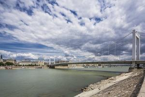 The River Danube, the Elisabeth Bridge, the Town of Pest by Massimo Borchi