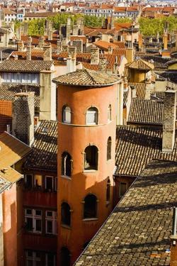 Towers and Roofs in Old Lyon by Massimo Borchi