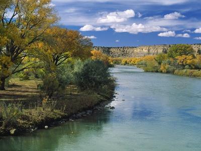 View of Animas River, New Mexico, USA