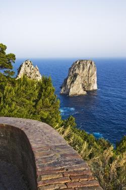View of Faraglioni from Belvedere Di Tragara, Capri, Capri Island, Campania, Italy by Massimo Borchi