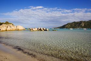 View of Santa Giulia Bay, Corsica, France by Massimo Borchi