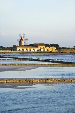 Windmill and Saltworks, Marsala, Sicily, Italy by Massimo Borchi