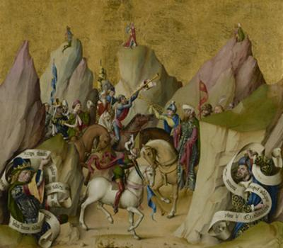 The Meeting of the Three Kings, with David and Isaiah, c.1475 by Master of St. Bartholemew