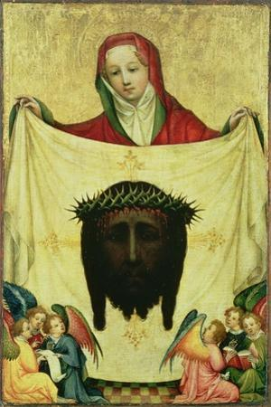 St. Veronica with the Shroud of Christ, C.1420 by Master of the Munich St. Veronica