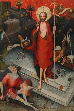 The Resurrection, SS James the Less, Bartholomew, Philip, after 1380 by Master of the Trebon Altarpiece