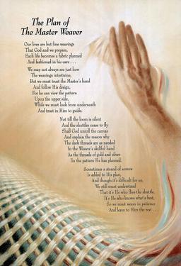Master Weaver God prayer religious motivational POSTER