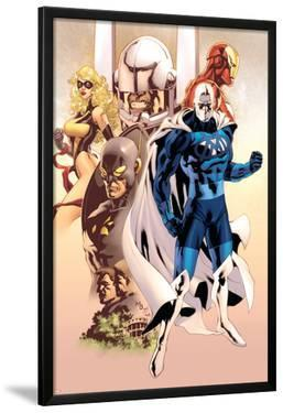 Adam: Legend Of The Blue Marvel No.1 Cover: Blue Marvel, Yellowjacket, Ms. Marvel and Iron Man by Mat Broome